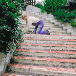 Для обігріву сходинок